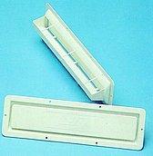 Вентиляционная решетка пластиковая, 420 x 120 мм, встроенного типа, с защитой от брызг