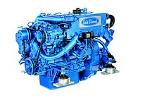 Дизельный двигатель Sole Mini 29 с редуктором с Technodrive Sea Prop R=2,15:1 и основанием