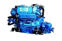 Дизельный двигатель Sole Mini 55 с редуктором с Technodrive Sea Prop R=2,15:1 и основанием