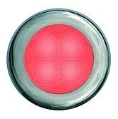 Светодиодная лампа освещения подножки Hella Slim Line ROUND, Ø 72 мм, красный