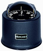 "Компас Ritchie Globemaster D-515-B с креплением на нактоузе 5"", с кожухом"