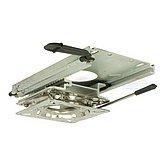 Салазки с поворотным механизмом и фиксатором для сиденья