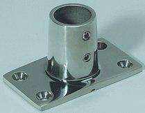 Прямоугольное основание стойки леера, прямое (22 мм)