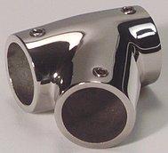 Тройник леерного ограждения 60°, универсальный (22 мм)