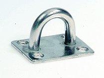Серьга с прямоугольным основанием, 38,5 х 48 мм