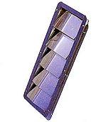 Вентиляционная решетка из нержавеющей стали, внешние размеры: 328 x 112 мм