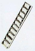 Вентиляционная решетка из нержавеющей стали, внешние размеры: 528 x 112 мм