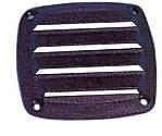 Вентиляционная решетка пластиковая, 80 x 80 мм, черная