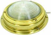 Накладной светильник с рифленым рассеивателем 5 дюймов, латунь