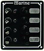 Панель выключателей 12В, 125 x 100 мм, 4 позиции