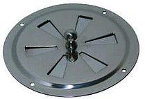 Вентиляционная решетка из нержавеющей стали с задвижкой, Ø 102 мм