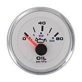 "Указатель давления масла White Domed Standart (0-100 PSI) 240-33 Ом, Ø 2"" (51 мм), белый"