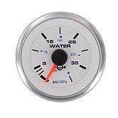 """Указатель давления воды White Domed Standart подвесной, 0-40 PSI, Ø 2"""" (51 мм), белый"""