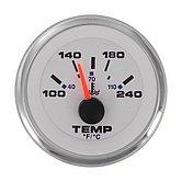 "Указатель температуры воды White Domed Standart (120-240 °F) 240-33 Ом, Ø 2"" (51 мм), белый"