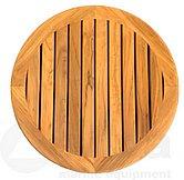 Прямоугольный стол из тика с постаментом и основанием, Ø 610 мм