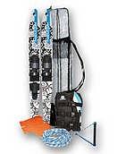 Комплект: лыжи Devocean Globe подростковые+жилет Beat vest+фал+сумка+флаг