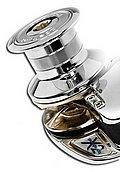Лебедка X2, 12 В / 1000 Вт, с барабаном, цепь 10мм, ISO 4565 (бронза)