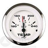 """Указатель температуры воды Lido-Pro (120-240 °F) 240-33 Ом, Ø 2"""" (51 мм), белый"""