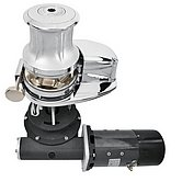 Лебедка X4, гидравлическая 8cc, с барабаном, цепь 12мм, ISO 4565 (бронза) CCW