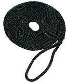 Швартовный трос с огонами черный, 12 мм х 6,5 м