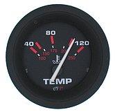 """Указатель температуры воды Amega Standart (40-120 °C) 10-180 Ом, Ø 2"""" (51 мм), черный"""
