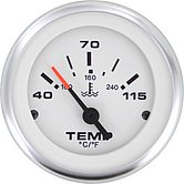 """Указатель температуры воды Lido-Pro (40-120 °C) 10-180 Ом, Ø 2"""" (51 мм), белый"""