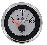 """Указатель давления масла Argent-Pro (0-100 PSI) 240-33 Ом, Ø 2"""" (51 мм), белый"""