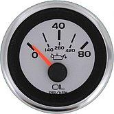 """Указатель давления масла Argent-Pro (0-80 PSI) 240-33 Ом, Ø 2"""" (51 мм), белый"""