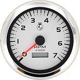 "Тахометр с одометром Argent-Pro 0-7000 об/мин., Ø 3"" (76 мм), белый"
