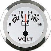 """Вольтметр Argent-Pro 10-16 В, Ø 2"""" (51 мм), белый"""