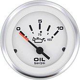 """Указатель давления масла Lido-Pro (0-10 бар), 240-33 Ом, Ø 2"""" (51 мм), белый"""