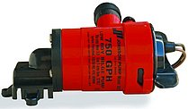 """Трюмная помпа Johnson pump L750 с низкой платформой, 12В, 73 л/мин, соединение 1 1/8"""""""