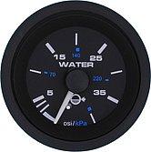 """Указатель давления воды Premier-Pro подвесной, 0-40 PSI, Ø 2"""" (51 мм), черный"""