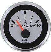 """Указатель давления масла Argent-Pro (0-10 бар), 240-33 Ом, Ø 2"""" (51 мм), белый"""