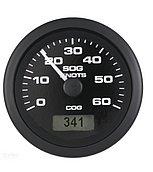 GPS-спидометр Premier-Pro с LCD дисплеем, 60 узлов, черный