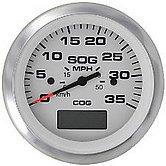 GPS-спидометр Lido-Pro с LCD дисплеем и рамкой из нержавеющей стали, 30 узлов, белый