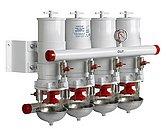 Сепаратор/фильтр топливный CE/ABYC, 4 в ряд, 30 микрон, макс. 36 л/мин