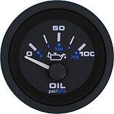 """Указатель давления масла Premier-Pro (0-100 PSI) 240-33 Ом, Ø 2"""" (51 мм), черный"""