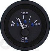 """Указатель давления в трансмиссии Premier-Pro (0-350 PSI / 25 бар) 10-180 Ом, Ø 2"""" (51 мм), черный"""