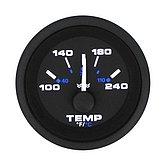 """Указатель температуры воды Premier-Pro (120-240 °F) 240-33 Ом, Ø 2"""" (51 мм), черный"""