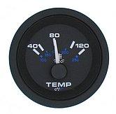 """Указатель температуры воды Premier-Pro (40-120 °C) 240-33 Ом, Ø 2"""" (51 мм), черный"""