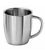 Кружка для кофе/чая полированная нержавеющая сталь