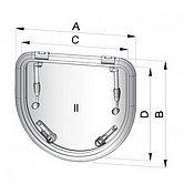 Вентиляционный люк Altus, тип D420, на отверстие 417 x 252 мм