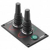 Панель для 2-х гидравлических ПУ с 2-мя 5-позиционными джойстиками и кнопочным выключателем