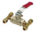 Клапан обходной для трубки/шланга Ø 10 мм COPPER10 или HHOSE6