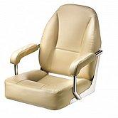 Кресло MASTER, с рамой из нержавеющей стали, с подолокотниками, кремовое