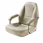 Кресло MASTER, с рамой из нержавеющей стали, с подолокотниками, белое