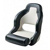 Кресло спортивное PILOT, flip-up (регулируемое), белое с чёрным
