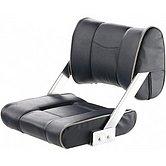 Кресло FERRY, с регулируемой спинкой, темно-синее с белыми швами
