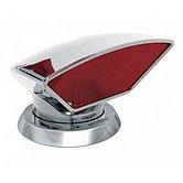 Головка вентиляционная Ø 75 мм, Donald, внутри красная, с кольцом и накидной гайкой